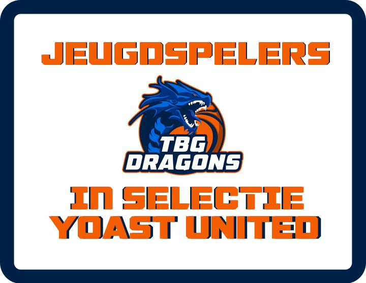 Jeugdspelers TBG Dragons opgenomen in selectie DBL team Yoast United